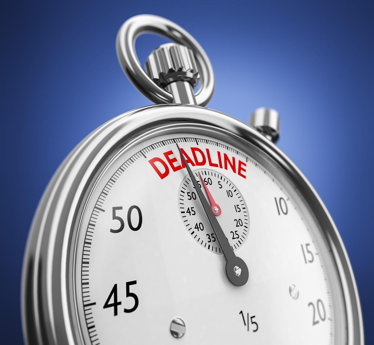 Deadline stopwatch clock