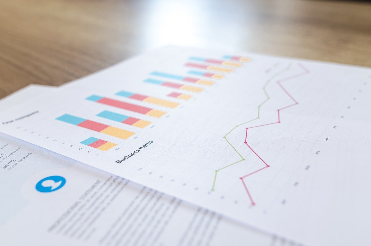 Financial analytics blur