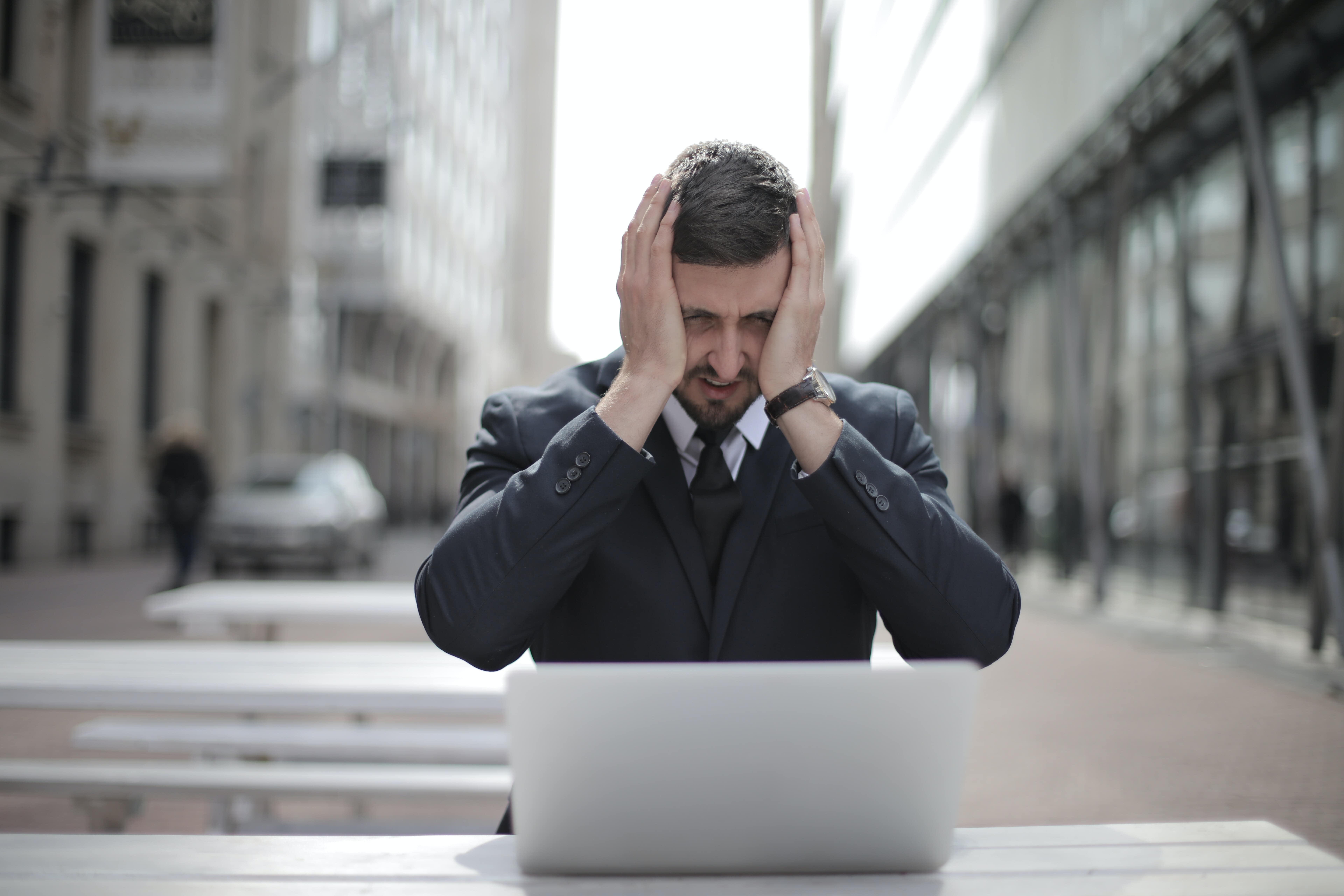Frustrated man who got the wrong tax advice